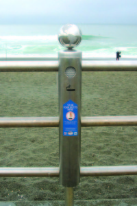 Global Cigarette Butt Collection Container - Sharp Park Beach Pacifica