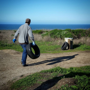 tires montara beach cleanup