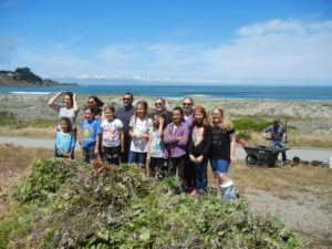 East Bay Girl Scout Troop habitat restoration group