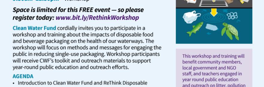 workshop recycle flyer