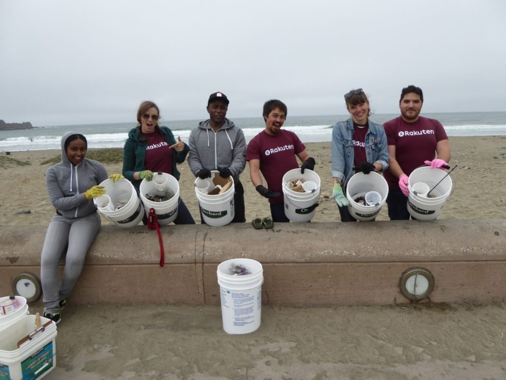 rakuten beach cleanup