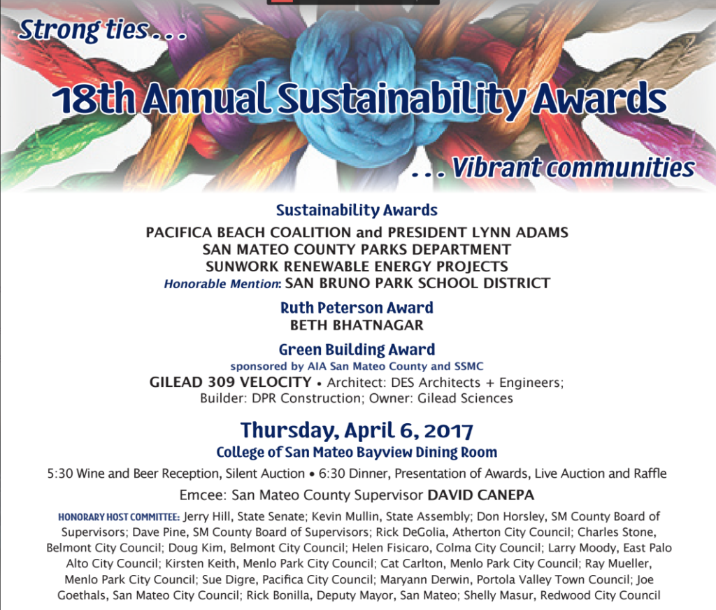 San Mateo Sustainable award